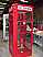 Outdoor Metal Superman Booth - Red