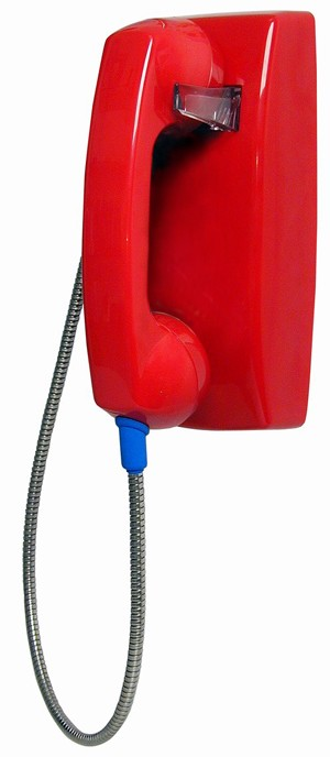 No-Dial Wall Phone - Red