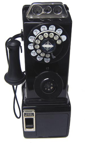 3 slot pay phone 1930s model