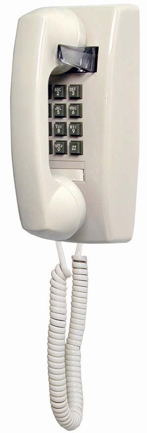 Commercial Ivory Wall Phone 2554
