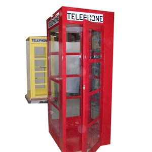 Metal Superman Telephone Booth